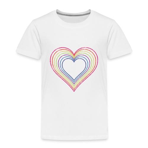 Heart rainbow - Toddler Premium T-Shirt