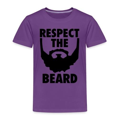 Respect the beard 05 - Toddler Premium T-Shirt