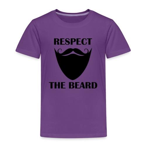 Respect the beard 07 - Toddler Premium T-Shirt