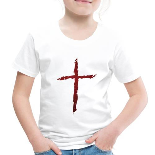 Old rugged distressed christian cross - Toddler Premium T-Shirt