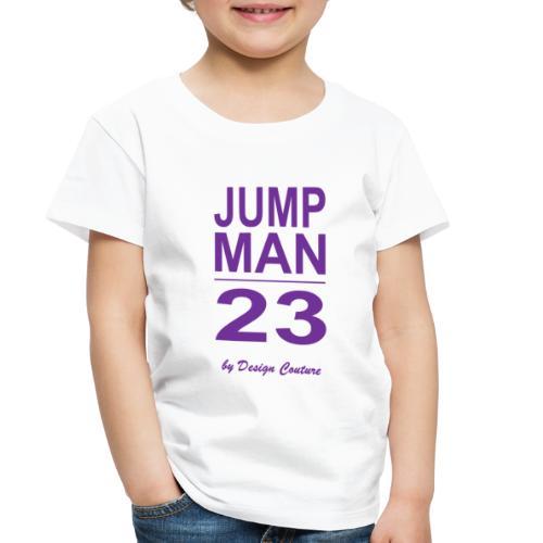 JUMP MAN 23 PURPLE - Toddler Premium T-Shirt