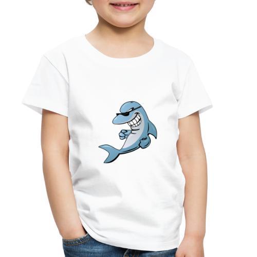 Dolphin Cartoon - Toddler Premium T-Shirt