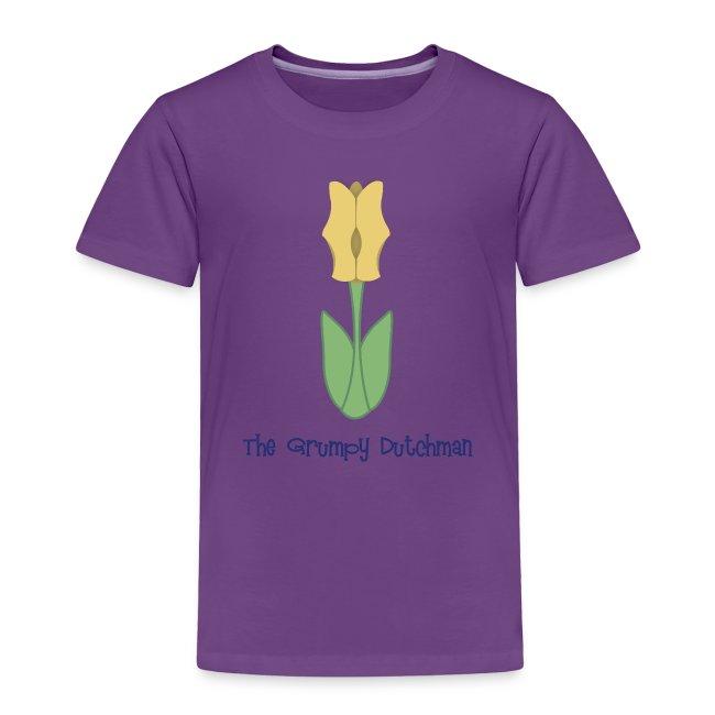Shoe Tulip blue lettering