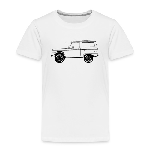 Bronco Truck Line Art Men's T-Shirt - Toddler Premium T-Shirt