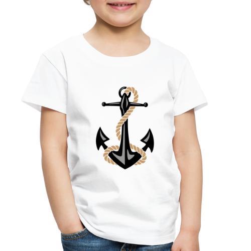 Classic Nautical Anchor and Rope Design - Toddler Premium T-Shirt