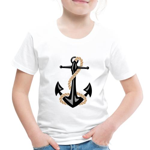 Classic Nautical Anchor and Rope Design - Toddler Premium T-Shirt