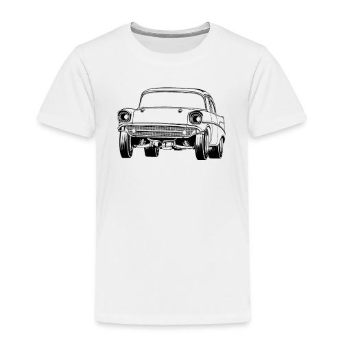 Gasser Up 1957 Chevy Drag Car - Toddler Premium T-Shirt
