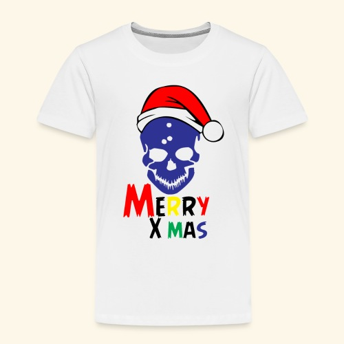 Merry Xmas Skul - Toddler Premium T-Shirt