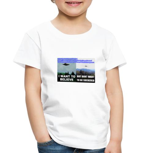 tshirt i want to believe with back Crew Logo - Toddler Premium T-Shirt