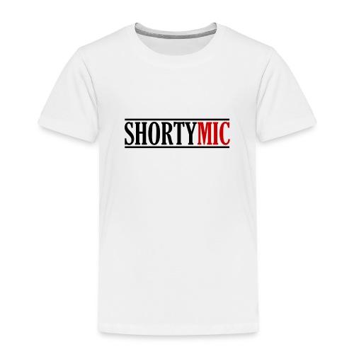 Shorty Mic - Logo - Black & Red - Toddler Premium T-Shirt
