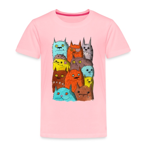The Cats of Meow Tyson B - Toddler Premium T-Shirt