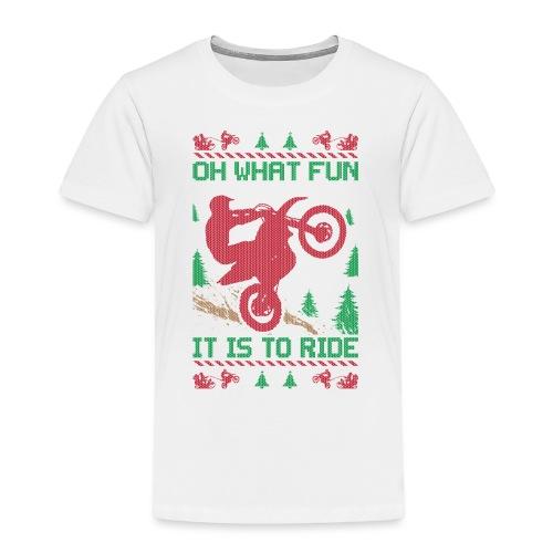 Supercross Moto Christmas - Toddler Premium T-Shirt