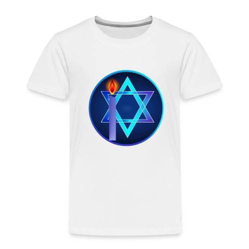 Star Of David and Light - Toddler Premium T-Shirt