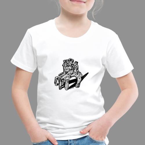 Wolfman Originals Black & White 19 - Toddler Premium T-Shirt