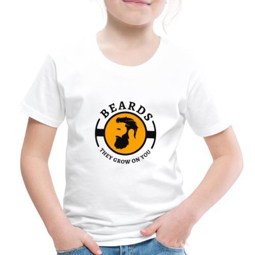 Beards, they grow on you | Minimal Orange Design - Toddler Premium T-Shirt