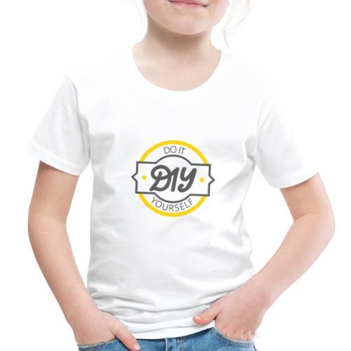 Do It Yourself | DIY | Minimal Badge-like Design - Toddler Premium T-Shirt