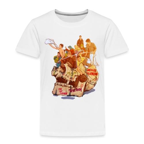 Skull & Refugees - Toddler Premium T-Shirt