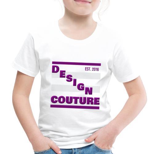 DESIGN COUTURE EST 2016 PURPLE - Toddler Premium T-Shirt