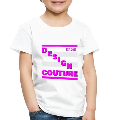 DESIGN COUTURE EST 2016 PINK - Toddler Premium T-Shirt
