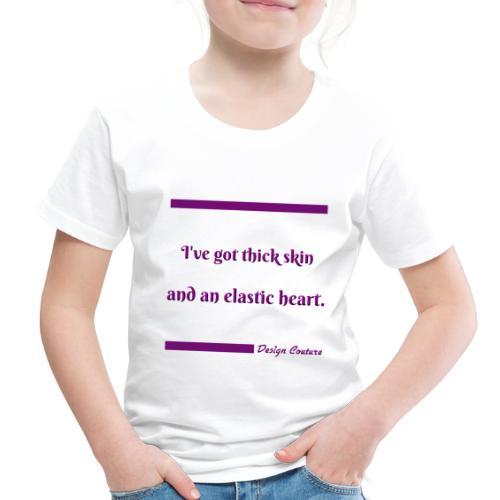 I VE GOT THICK SKIN PURPLE - Toddler Premium T-Shirt