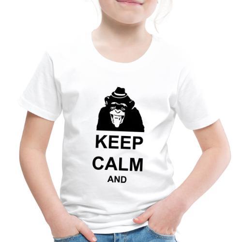 KEEP CALM MONKEY CUSTOM TEXT - Toddler Premium T-Shirt