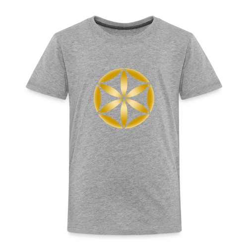 part of the flower of life in gold - Toddler Premium T-Shirt