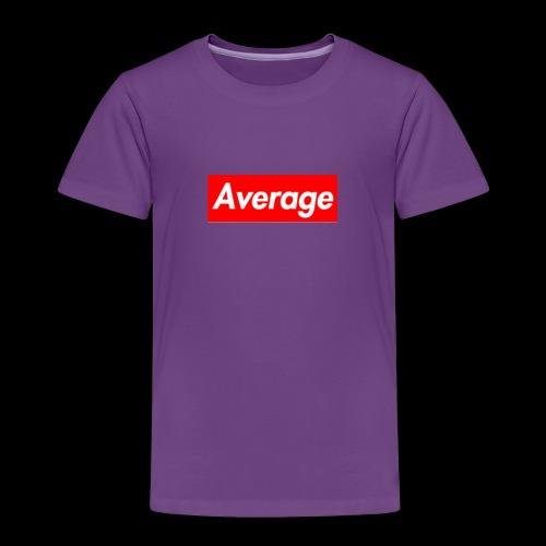 Average Supreme Logo Mockup - Toddler Premium T-Shirt