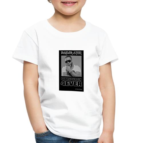 BOLDER STEEL PITTSBURGH 4EVER BLACK WHITE - Toddler Premium T-Shirt