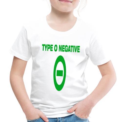 0 negative - Toddler Premium T-Shirt