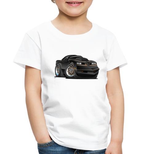 Seventies Classic Muscle Car Cartoon - Toddler Premium T-Shirt