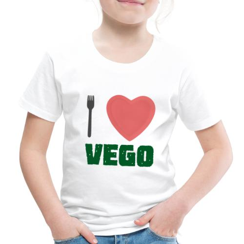 I love Vego - Clothes for vegetarians - Toddler Premium T-Shirt