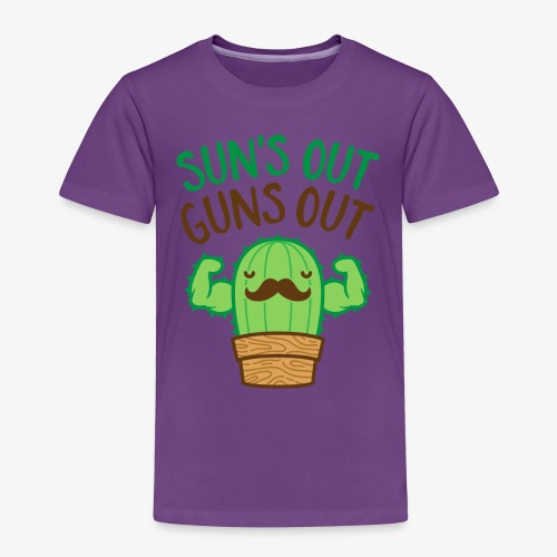 Sun's Out Guns Out Macho Cactus - Toddler Premium T-Shirt