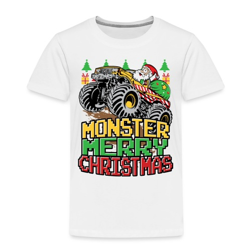Santa Christmas Truck - Toddler Premium T-Shirt