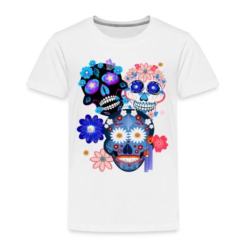 3 Skulls-Day Of The Dead - Toddler Premium T-Shirt