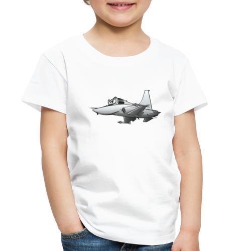 Military Fighter Jet Airplane Cartoon - Toddler Premium T-Shirt
