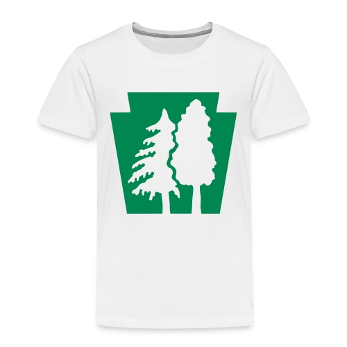 PA Keystone w/trees - Toddler Premium T-Shirt