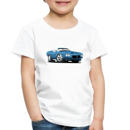American Classic Seventies Convertible Car Cartoon - Toddler Premium T-Shirt