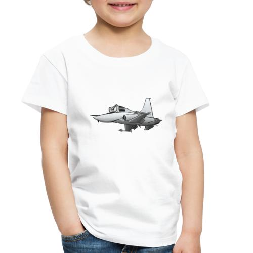 Military Fighter Jet Airplane Cartoon - Toddler Premium T-Shirt