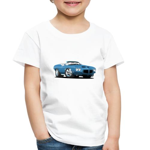 American Classic Seventies Convertible Car Cartoon - Toddler Premium T-Shirt