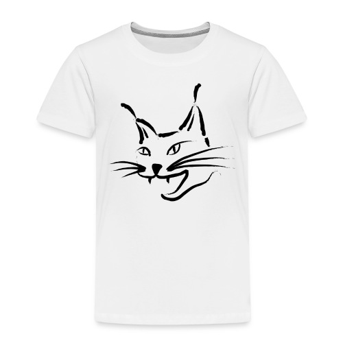 lynx cougar lion wildcat bobcat cat wild hunter - Toddler Premium T-Shirt