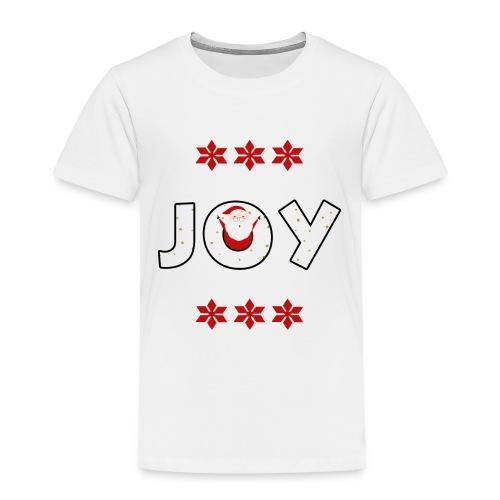 Christmas JOY Santa Clause Ugly Style - Toddler Premium T-Shirt