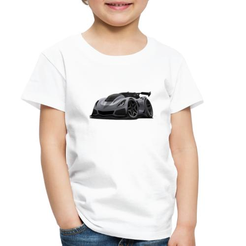 Modern American Sports Car Cartoon - Toddler Premium T-Shirt