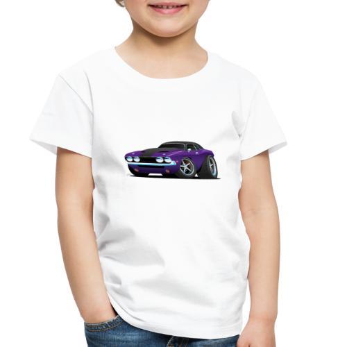 Classic Muscle Car Cartoon - Toddler Premium T-Shirt