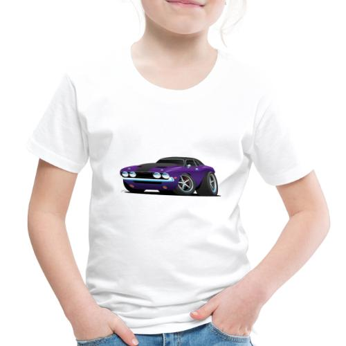 Classic Muscle Car Cartoon - Toddler Premium T-Shirt