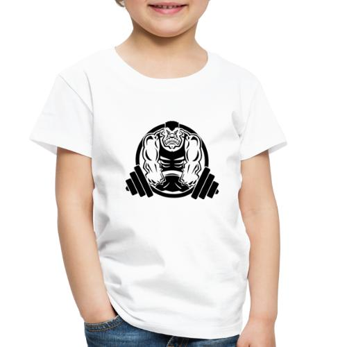 Weightlifting Muscle Fitness Gym Cartoon - Toddler Premium T-Shirt