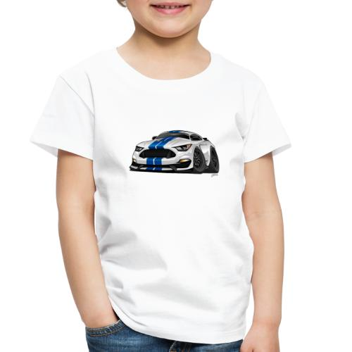 Modern American Muscle Car Cartoon - Toddler Premium T-Shirt
