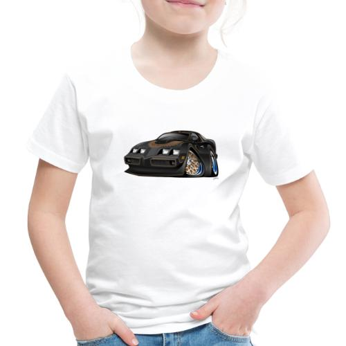 Classic American Black Muscle Car Cartoon - Toddler Premium T-Shirt