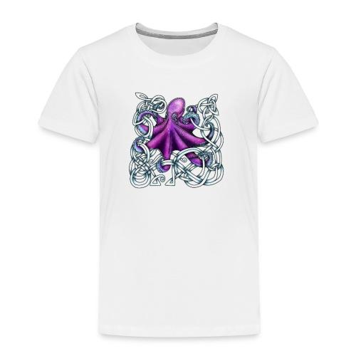 Celtic Octopus - Purple - Toddler Premium T-Shirt