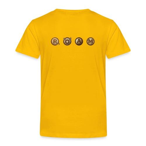 ROAM letters sepia - Toddler Premium T-Shirt