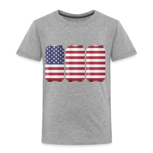 beer can USA Flag - Toddler Premium T-Shirt